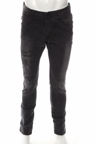 Мъжки дънки RNT23 Jeans, Размер L, Цвят Сив, 98% памук, 2% еластан, Цена 44,70лв.