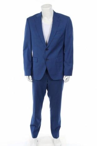 Pánsky oblek  Boss, Veľkosť XL, Farba Modrá, Vlna, Cena  253,61€