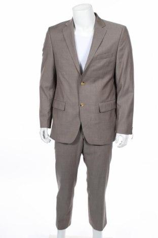Pánsky oblek  Daniel Hanson, Veľkosť L, Farba Béžová, Vlna, Cena  55,73€