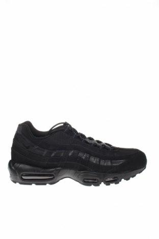 Мъжки обувки Air Jordan Nike, Размер 46, Цвят Черен, Естествена кожа, еко кожа, текстил, Цена 179,00лв.