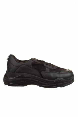 Мъжки обувки Boohoo, Размер 43, Цвят Черен, Еко кожа, текстил, Цена 39,60лв.
