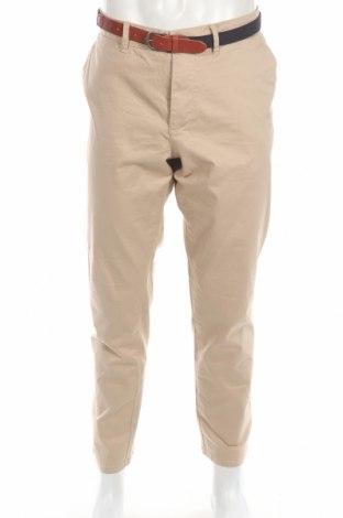 Мъжки панталон Selected Homme, Размер XL, Цвят Бежов, 98% памук, 2% еластан, Цена 26,60лв.