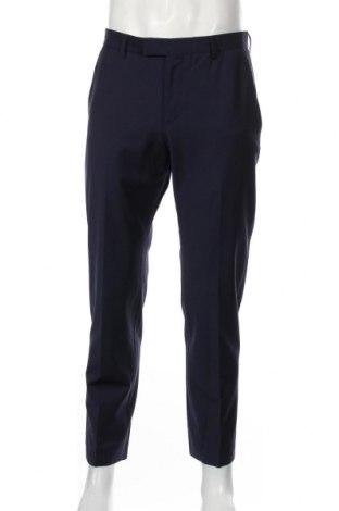 Мъжки панталон Strellson, Размер M, Цвят Син, 85% вълна, 11% полиамид, 4% еластан, Цена 71,60лв.