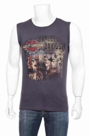 Мъжки потник Harley- Davidson, Размер S, Цвят Сив, Памук, Цена 35,48лв.