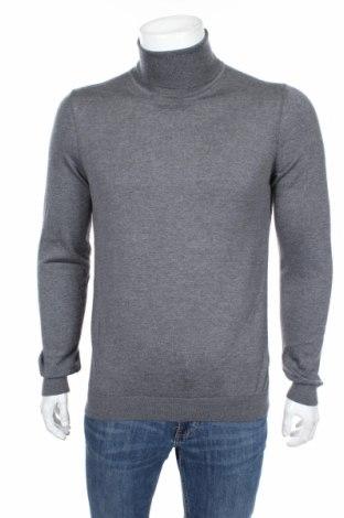 Мъжки пуловер Boss, Размер L, Цвят Сив, Вълна, Цена 126,75лв.