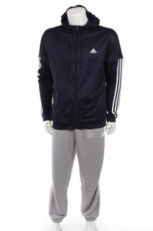 Αθλητικό ανδρικό σύνολο Adidas, Μέγεθος L, Χρώμα Μπλέ, Πολυεστέρας, Τιμή 48,38€