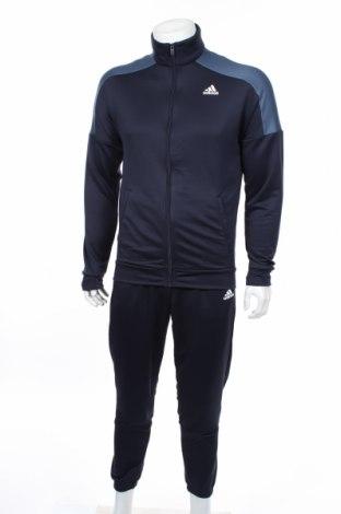 Αθλητικό ανδρικό σύνολο Adidas, Μέγεθος M, Χρώμα Μπλέ, Πολυεστέρας, Τιμή 55,73€