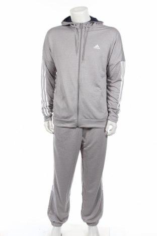 Αθλητικό ανδρικό σύνολο Adidas, Μέγεθος L, Χρώμα Γκρί, Πολυεστέρας, Τιμή 52,22€