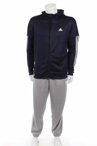 Αθλητικό ανδρικό σύνολο Adidas, Μέγεθος M, Χρώμα Μπλέ, Πολυεστέρας, Τιμή 48,38€
