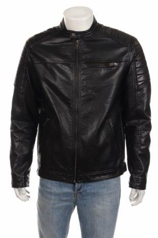 Мъжко кожено яке Core By Jack & Jones, Размер XL, Цвят Черен, Еко кожа, Цена 74,25лв.