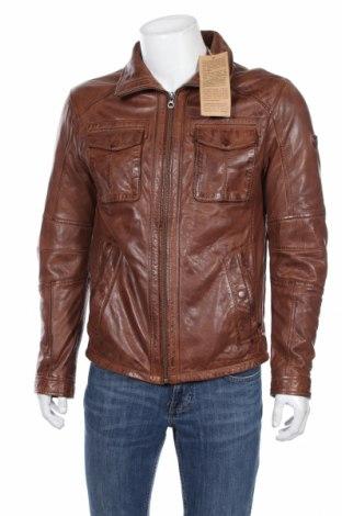 Мъжко кожено яке Gipsy, Размер M, Цвят Кафяв, Естествена кожа, Цена 221,40лв.