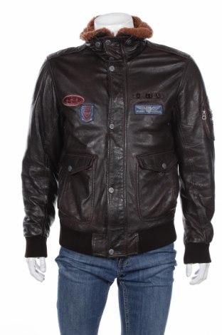 Мъжко кожено яке Gipsy, Размер L, Цвят Кафяв, Естествена кожа, Цена 309,00лв.