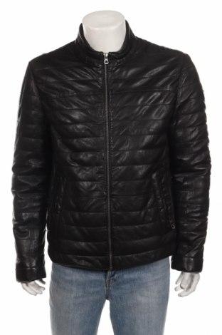 Мъжко кожено яке Gipsy, Размер M, Цвят Черен, Естествена кожа, Цена 215,40лв.