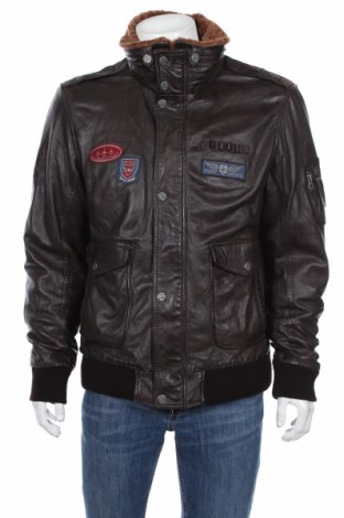 Мъжко кожено яке Gipsy, Размер XXL, Цвят Кафяв, Естествена кожа, Цена 185,40лв.