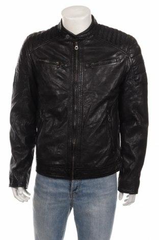 Мъжко кожено яке Gipsy, Размер L, Цвят Черен, Естествена кожа, Цена 369,00лв.