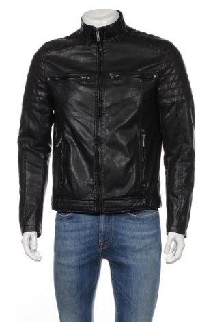 Мъжко кожено яке Review, Размер M, Цвят Черен, Еко кожа, Цена 51,75лв.