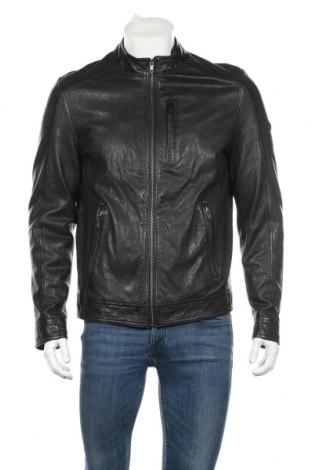 Мъжко кожено яке Stones, Размер L, Цвят Черен, Естествена кожа, Цена 141,75лв.