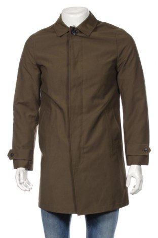 Pánský kabát  River Island, Rozměr S, Barva Zelená, 63% bavlna, 37% polyamide, Cena  942,00Kč