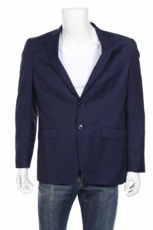 Мъжко сако Massimo Dutti, Размер L, Цвят Син, 100% вълна, Цена 70,54лв.