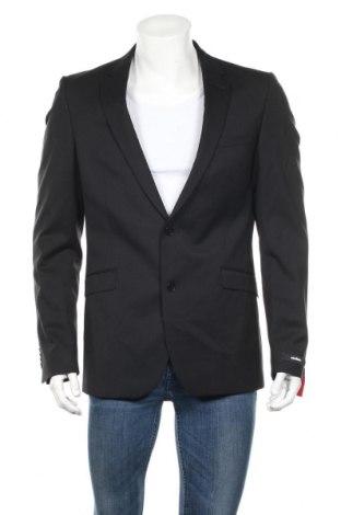 Мъжко сако Strellson, Размер M, Цвят Черен, 98% вълна, 2% еластан, Цена 41,65лв.