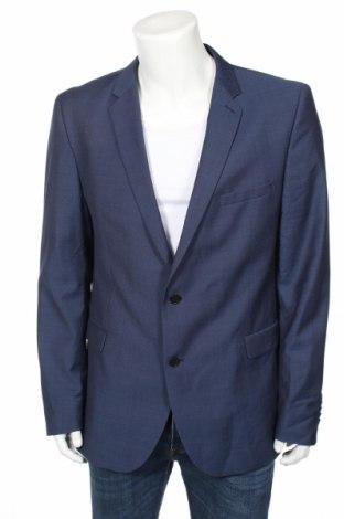 Мъжко сако Strellson, Размер XL, Цвят Син, Вълна, Цена 111,65лв.