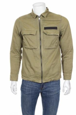 Męska kurtka Zara, Rozmiar M, Kolor Zielony, 100% bawełna, Cena 147,27zł