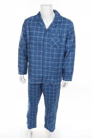 Пижама Target, Размер M, Цвят Син, Памук, Цена 29,93лв.