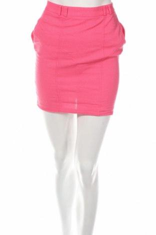 Пола ASOS Petite, Размер XXS, Цвят Розов, 57% лен, 43% вискоза, Цена 8,50лв.