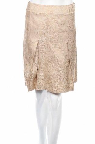 Пола Ann Taylor, Размер XS, Цвят Бежов, 77% коприна, 23% метални нишки, Цена 13,52лв.