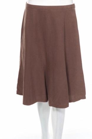 Пола Jones New York, Размер M, Цвят Кафяв, 72% коприна, 28% лен, Цена 17,54лв.