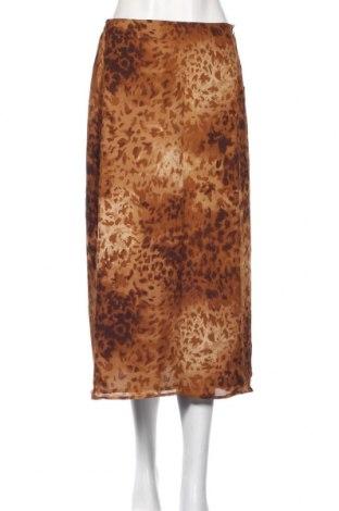Пола Jones New York, Размер S, Цвят Кафяв, 100% коприна, Цена 27,50лв.