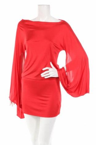 Рокля Adele Fado, Размер S, Цвят Червен, Вискоза, Цена 38,22лв.