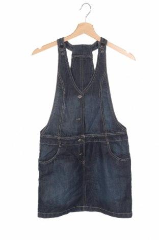 Dámske šaty s trákmi  Nky, Veľkosť 11-12y/ 152-158 cm, Farba Modrá, 75% bavlna, 25% polyester, Cena  14,45€