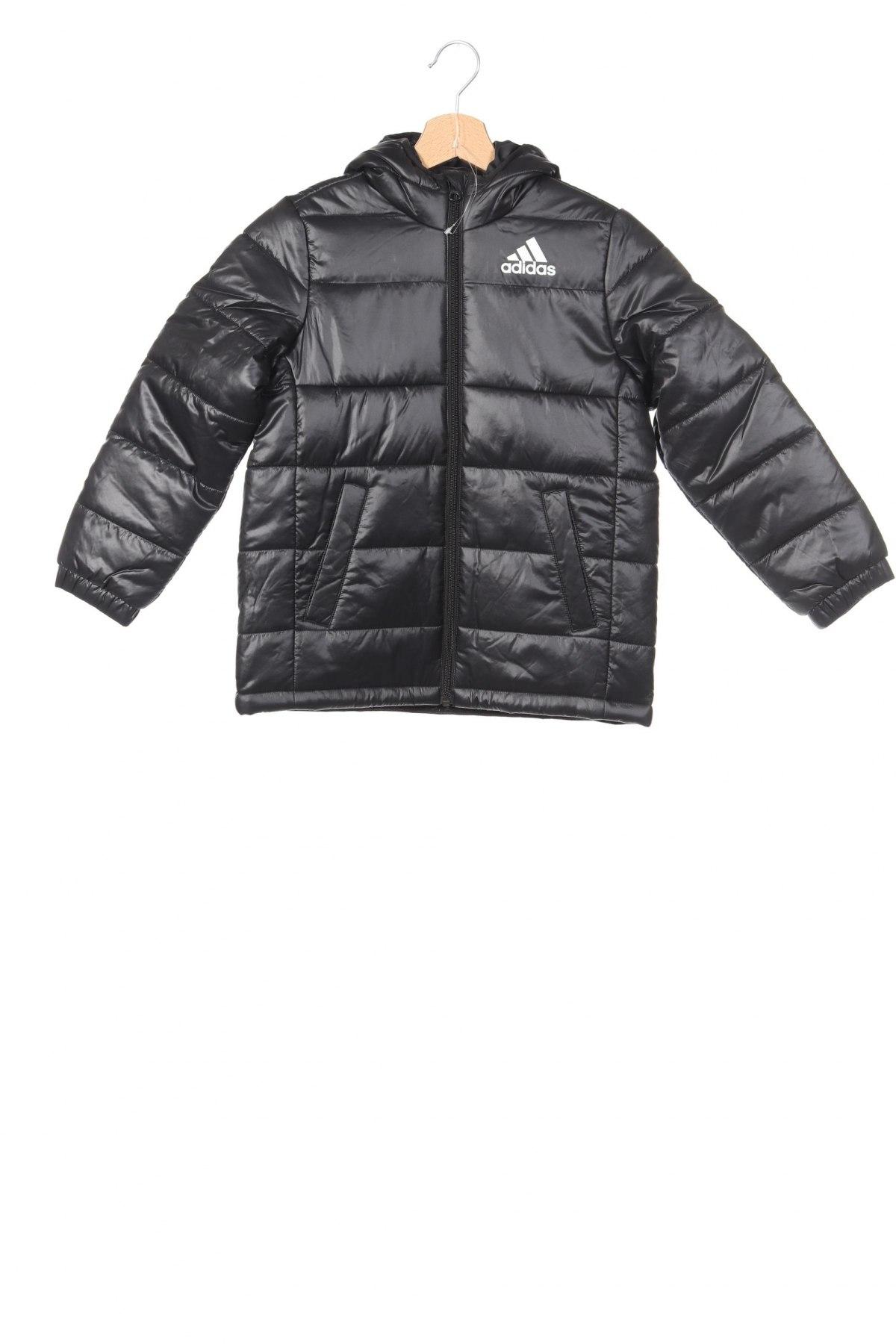 Детско яке Adidas, Размер 7-8y/ 128-134 см, Цвят Черен, Полиестер, Цена 65,40лв.