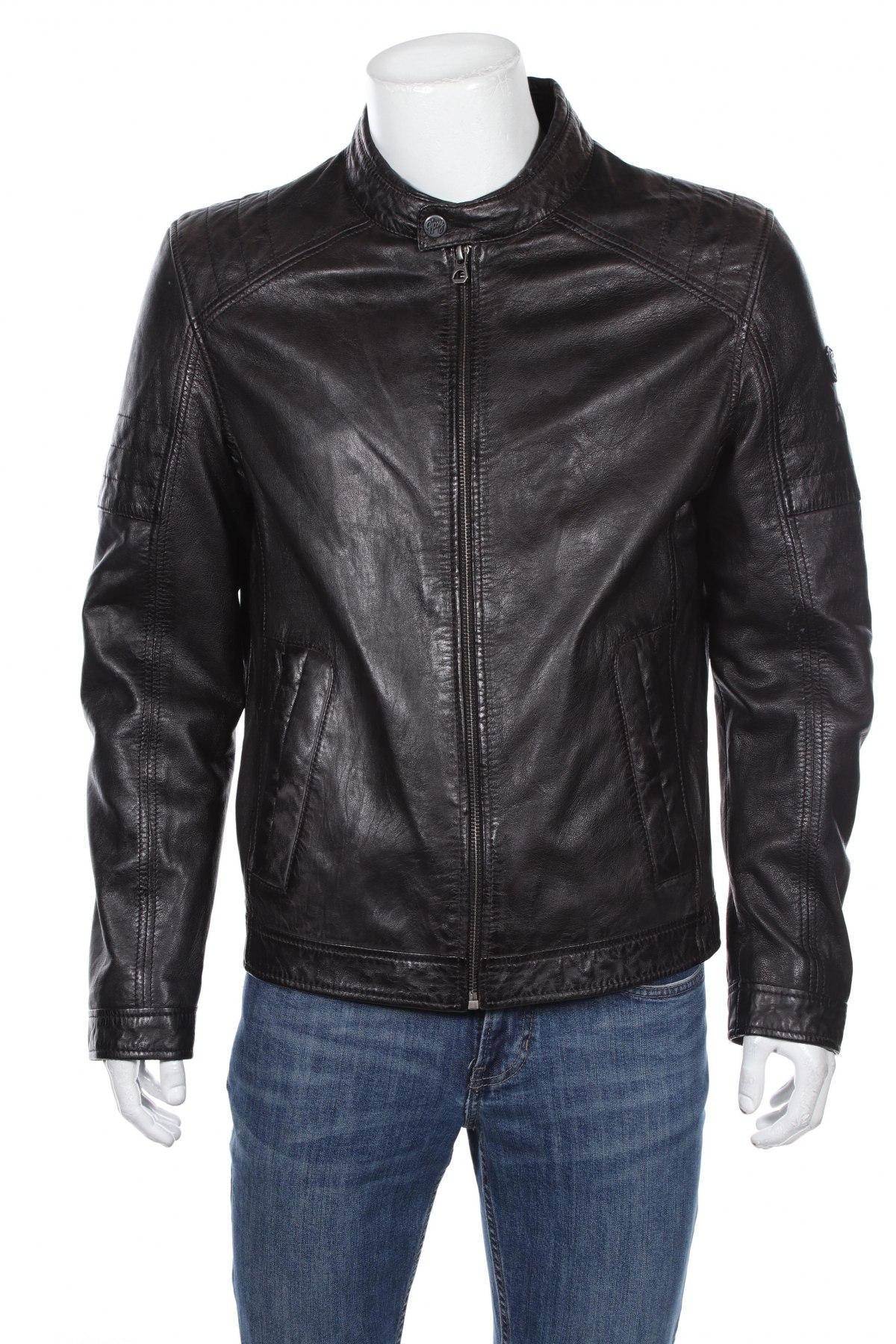 Мъжко кожено яке Gipsy, Размер L, Цвят Кафяв, Естествена кожа, Цена 194,67лв.