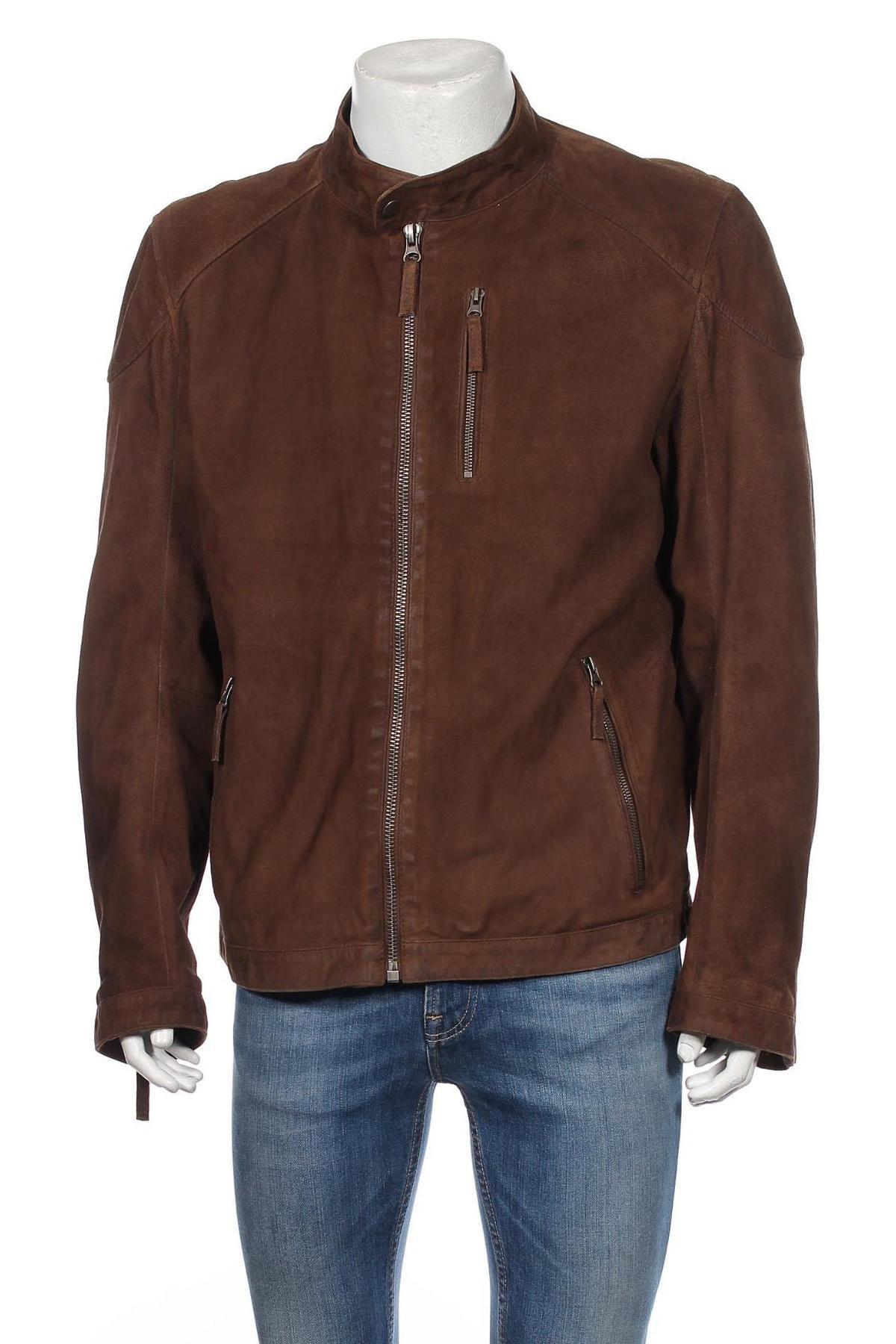 Мъжко кожено яке McNeal, Размер XL, Цвят Кафяв, Естествена кожа, Цена 123,76лв.