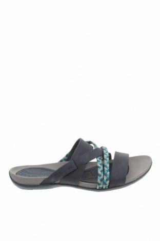 Papuci Clarks, Mărime 38, Culoare Albastru, Piele naturală, textil, Preț 551,38 Lei