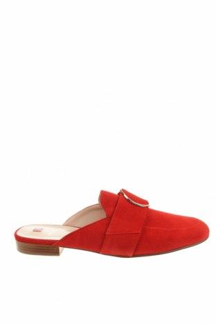 Γυναικείες παντόφλες Hogl, Μέγεθος 41, Χρώμα Κόκκινο, Φυσικό σουέτ, Τιμή 32,09€