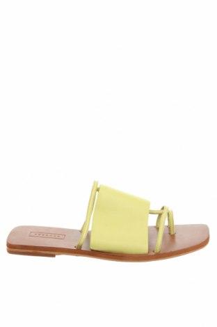 Pantofle Topshop, Velikost 38, Barva Zelená, Pravá kůže, Cena  646,00Kč