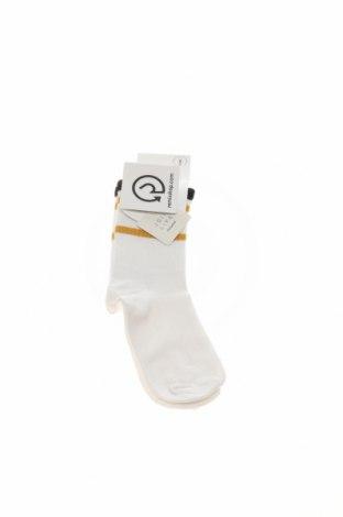 Чорапи Pull&Bear, Размер M, Цвят Бял, Цена 6,60лв.