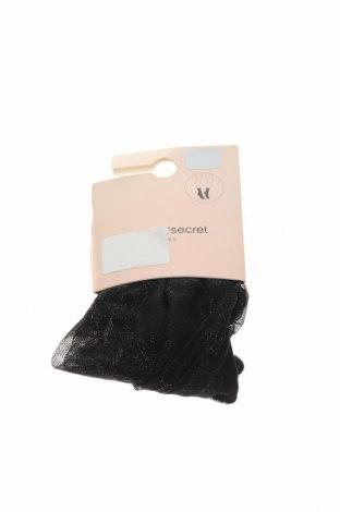 Чорапи Women'secret, Размер M, Цвят Черен, 69% полиестер, 31% памук, Цена 6,72лв.
