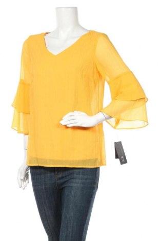 Дамска блуза Agb, Размер S, Цвят Жълт, Полиестер, Цена 36,86лв.