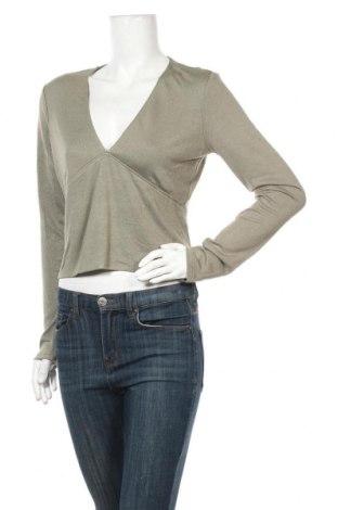 Дамска блуза Bardot, Размер L, Цвят Зелен, 52% полиестер, 43% вискоза, 5% еластан, Цена 3,23лв.