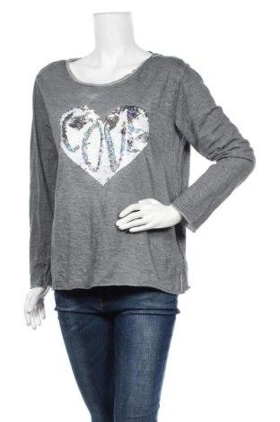 Дамска блуза Colours Of The World, Размер M, Цвят Сив, Памук, Цена 4,80лв.