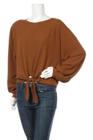Dámská halenka H&M, Velikost M, Barva Hnědá, 98% polyester, 2% elastan, Cena  303,00Kč