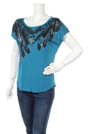 Дамска блуза Hot Options, Размер M, Цвят Син, Вискоза, Цена 3,78лв.