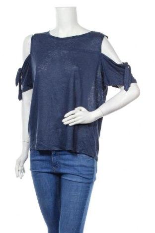 Дамска блуза JAG, Размер M, Цвят Син, Лен, Цена 34,02лв.