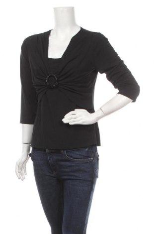 Дамска блуза Liz Jordan, Размер M, Цвят Черен, 94% полиестер, 6% еластан, Цена 16,07лв.