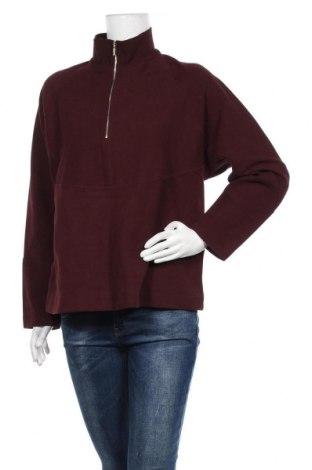 Дамска блуза Massimo Dutti, Размер L, Цвят Червен, Памук, Цена 33,12лв.