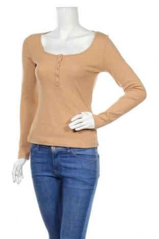 Дамска блуза SHEIN, Размер S, Цвят Бежов, 95% полиестер, 5% еластан, Цена 14,18лв.